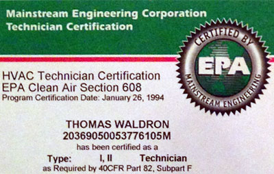 Credentials Waldron Electric Heating Amp Cooling